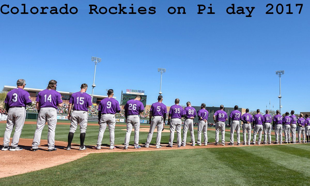 Rockies on Pi Day